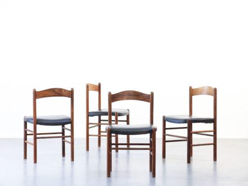 4 chaises scandinave en teck 3