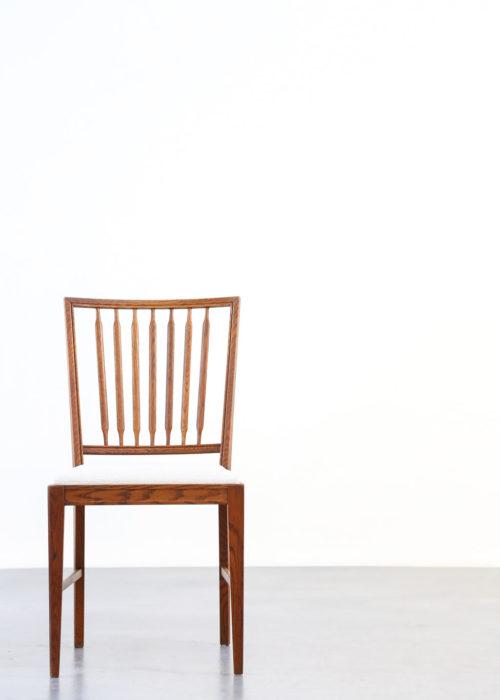 5 chaises Suedoise en teck massif9