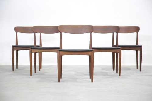 5 chaises johannes andersen scandinave vintage samcom (5)