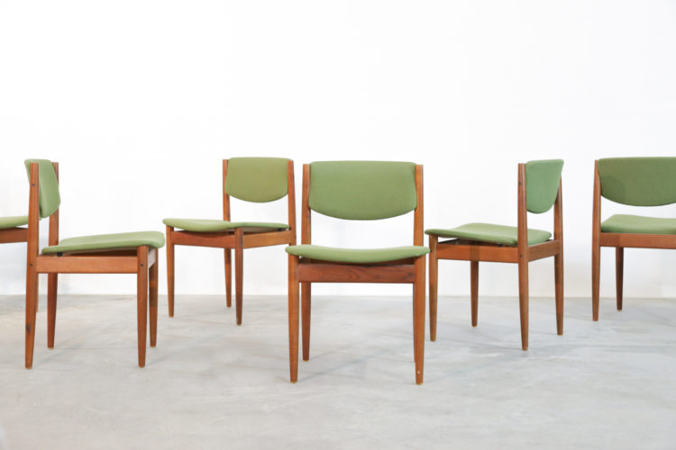 6 chaises finn juhl scandinave danish dining chair (4)