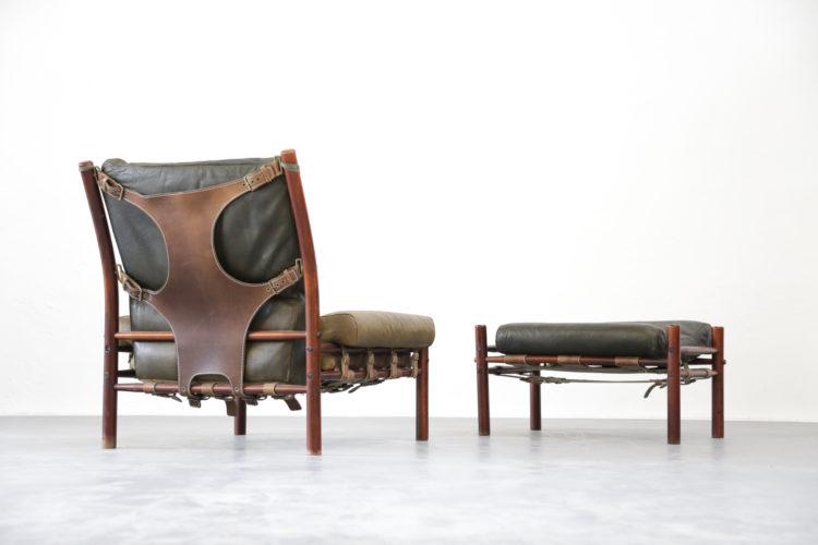 Fauteuil safari Arne Norell armchair danois scandinave