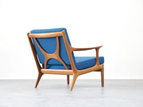 Fauteuil scandinave chauffeuse armchair scandinave teck