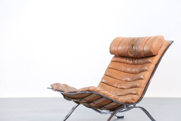 Fauteuil suédois Arne Norell chauffeuse5
