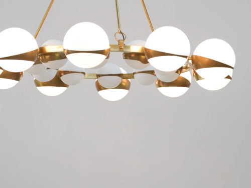 Grand lustre italien Stilnovo chandelier italian design28
