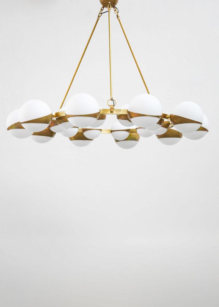 Grand lustre italien Stilnovo chandelier italian design21