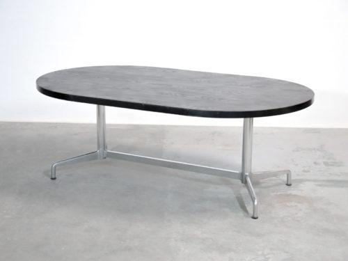 Grande table à manger Giancarlo Piretti italienne vintage (7)