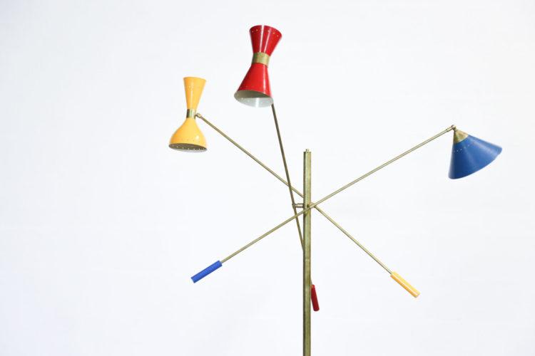 Lampadaire balancier 3 bras italien style angelo lelli18