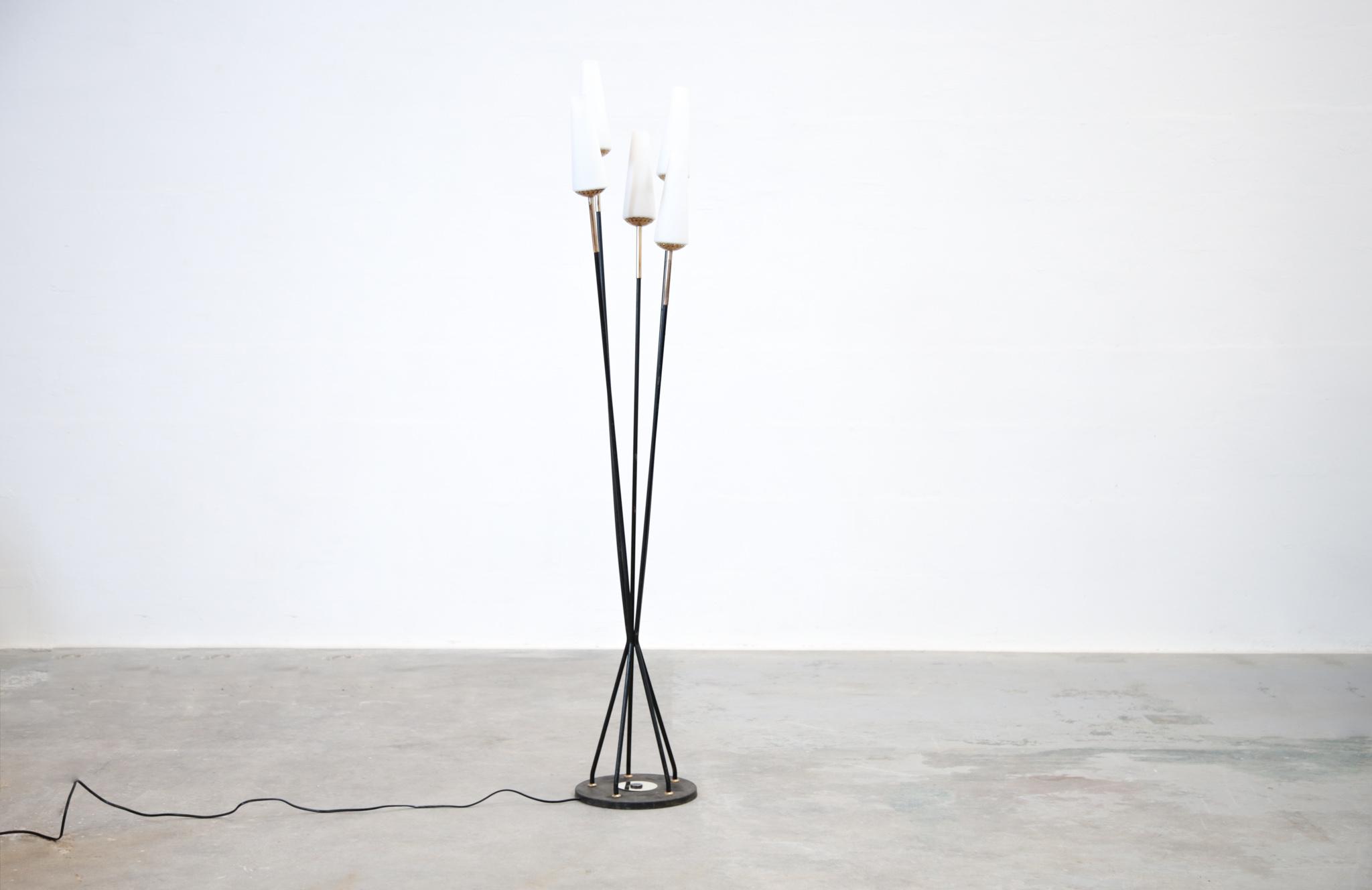 lampadaire design italien vintage opaline danke galerie