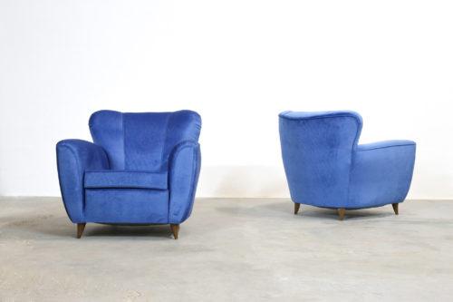 Paire de fauteuil italien vintage jean royere design (8)