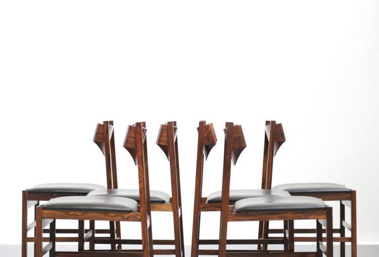 Set de 6 chaises gianfranco frattini design itaien chair 1960