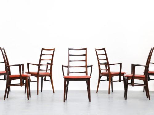 Set de 7 chaises Koefoed Larsen en palissandre de rio chair