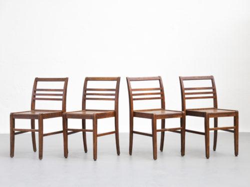Suite 4 chaises René Gabriel vintage design chair dinning