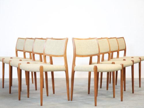Suite de 8 chaises niels otto moller scandinave danoise00005