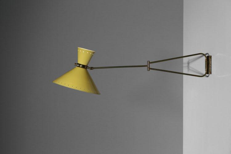 applique potence lunel vintage etoilé jaune années 60 lampe3applique potence lunel vintage etoilé jaune années 60 lampe3