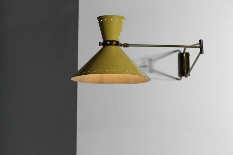 applique potence lunel vintage etoilé jaune années 60 lampe3