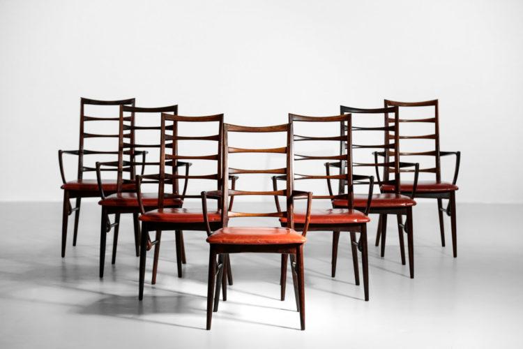 chaise Koefoed larsen scandinave danois palissandre de rio liz 24