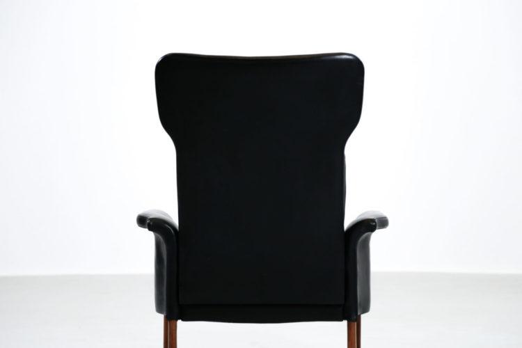 Fauteuil danois en cuir des années 60 palissandre29