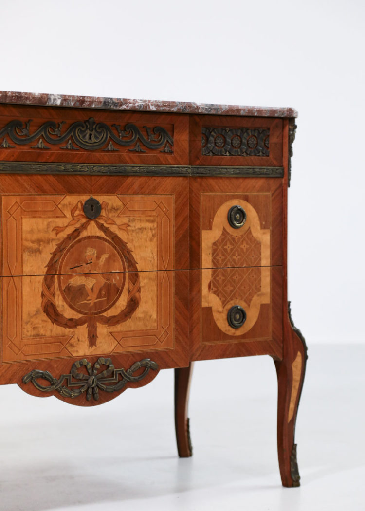 ommode En Marqueterie de style Louis XV Louis XVI27
