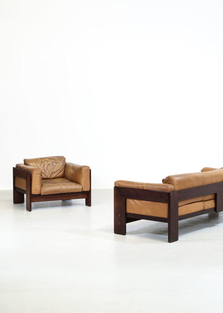 Canapé sofa tobia scarpa bastiano vintage design italien années 7032