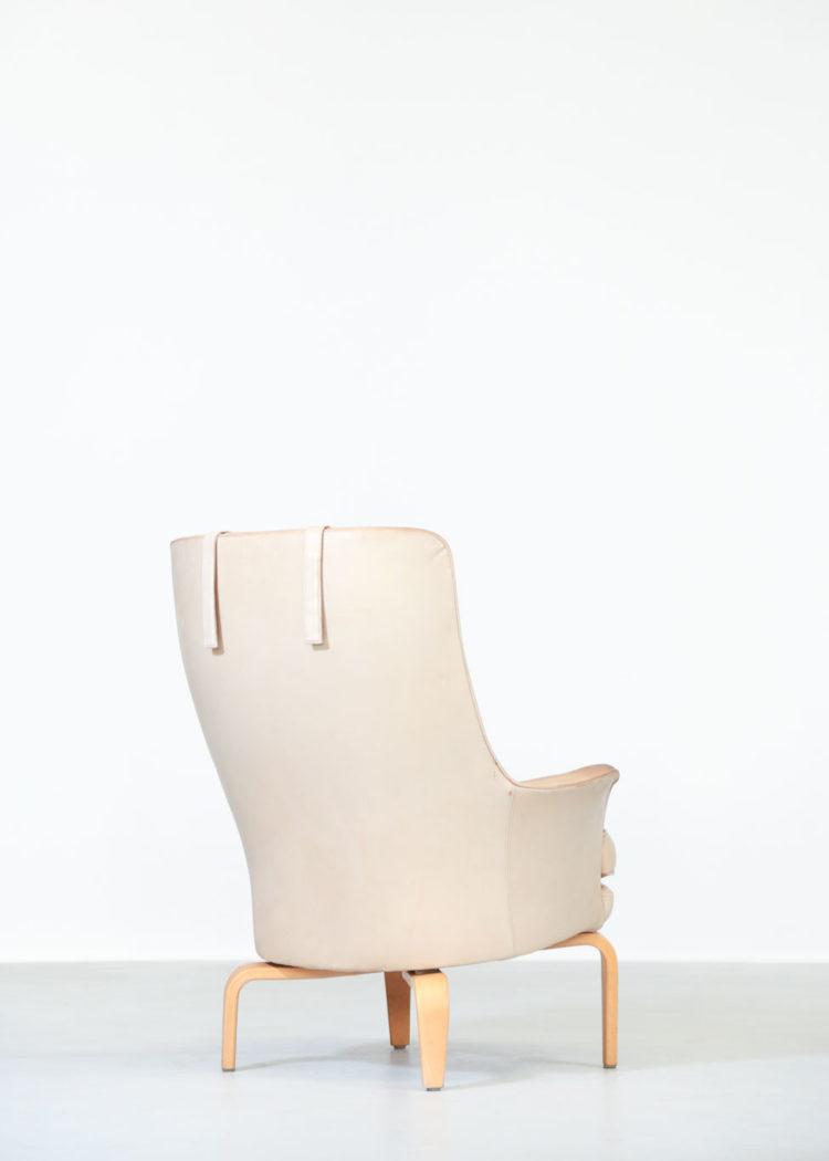 paire de fauteuil arne norell cuir beige suedois7