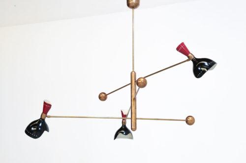 Lustre italien stilnovo balancier contrepoids vintage design 1122