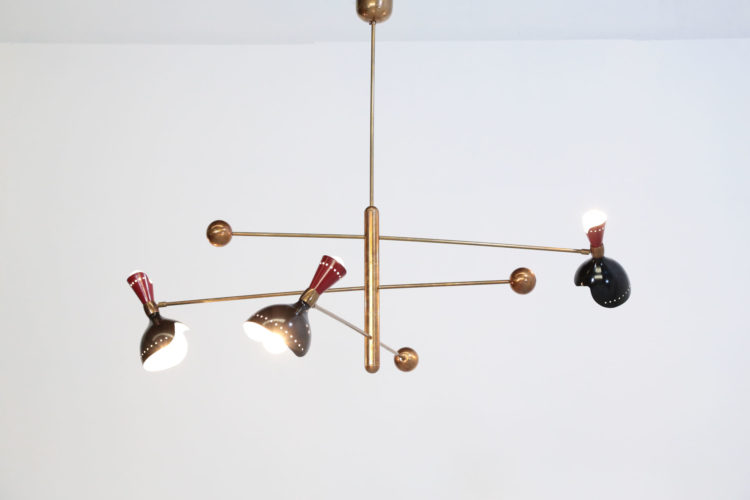 Lustre italien stilnovo balancier contrepoids vintage design30