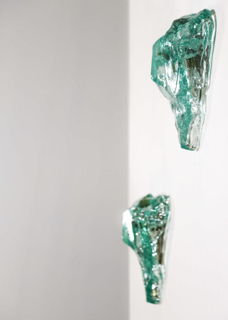 paire d'appliques en verre années 50 fontana arte