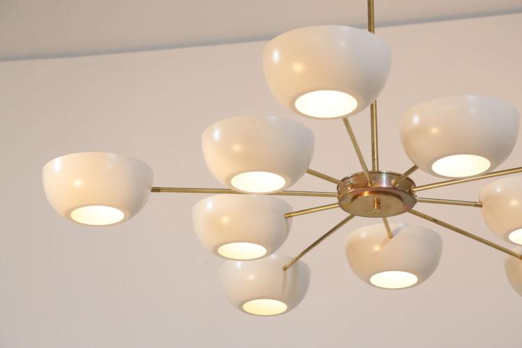 Grand lustre italien vintage stilnovo design arredoluce 44