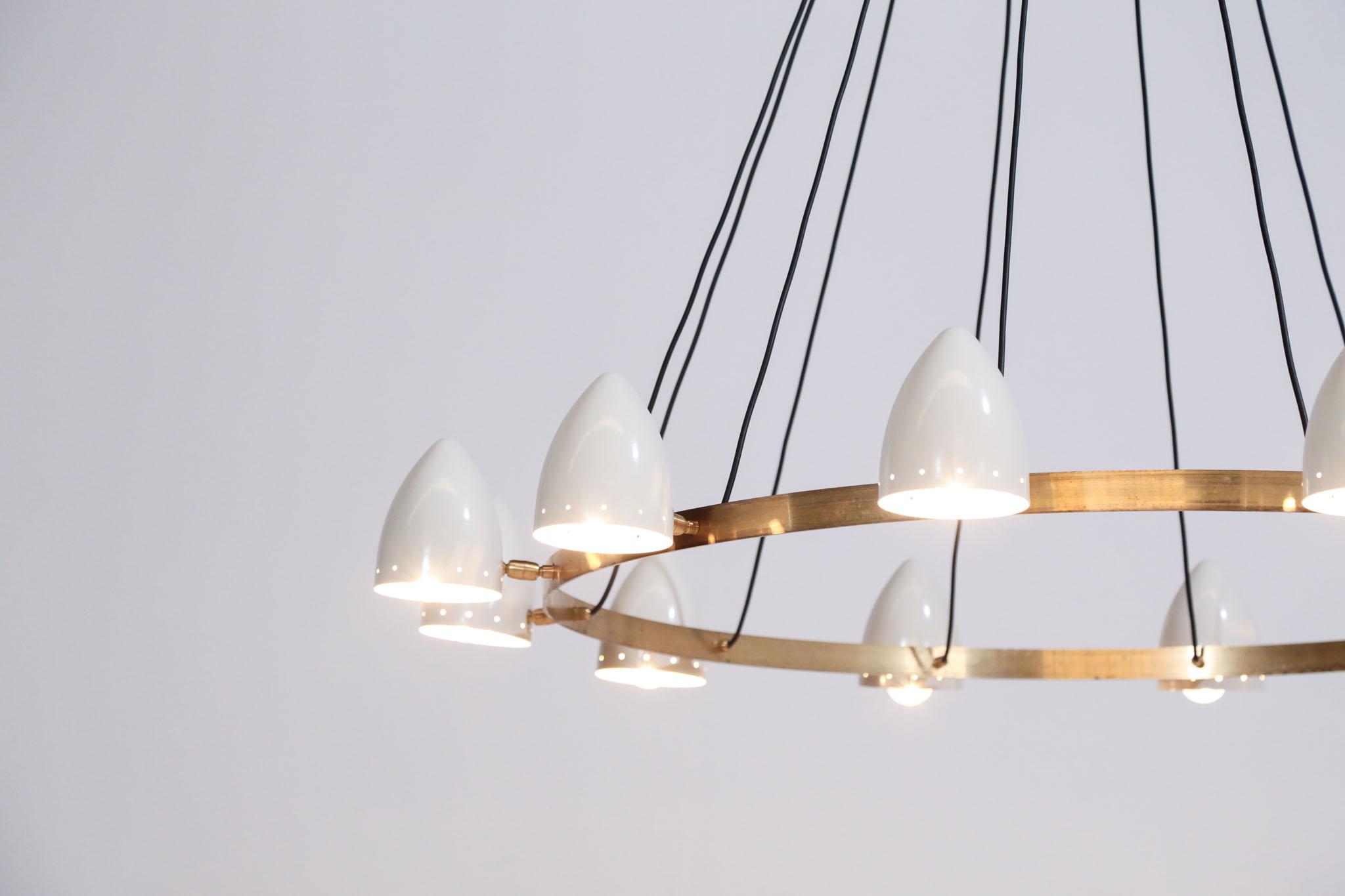 lustre moderne design italien rond 12 abat jours danke galerie. Black Bedroom Furniture Sets. Home Design Ideas