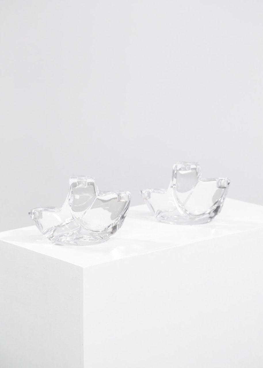 Paire de Bougeoires cristale daum france 23