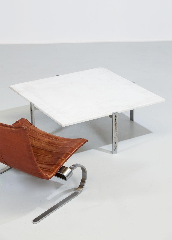 Table basse pk65 poul kjaerholm danois scandinave design - Table basse design scandinave ...