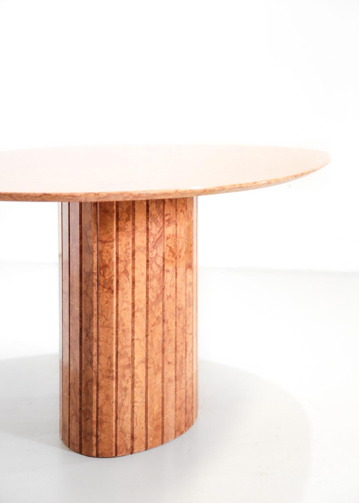 table manger en marbre rouge de veronne design danke. Black Bedroom Furniture Sets. Home Design Ideas