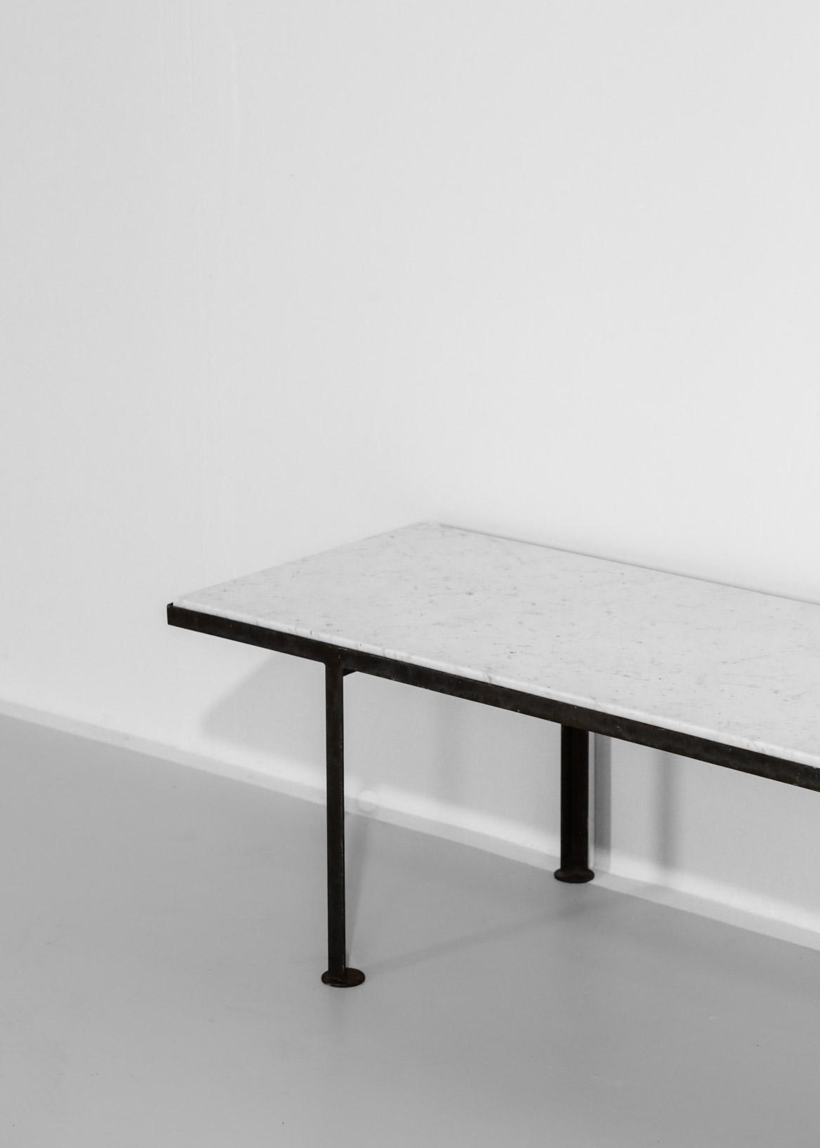 table basse en marbre acier danke galerie. Black Bedroom Furniture Sets. Home Design Ideas