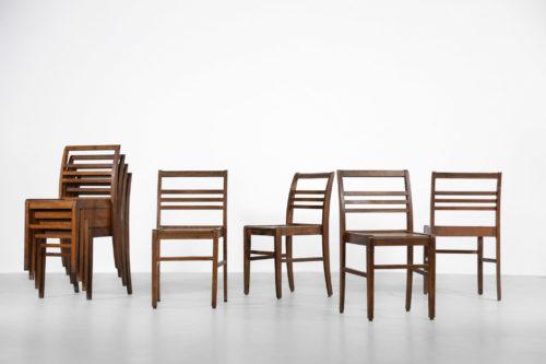 8 chaises reconstruction rené gabriel vintage alain richard gascoin 3
