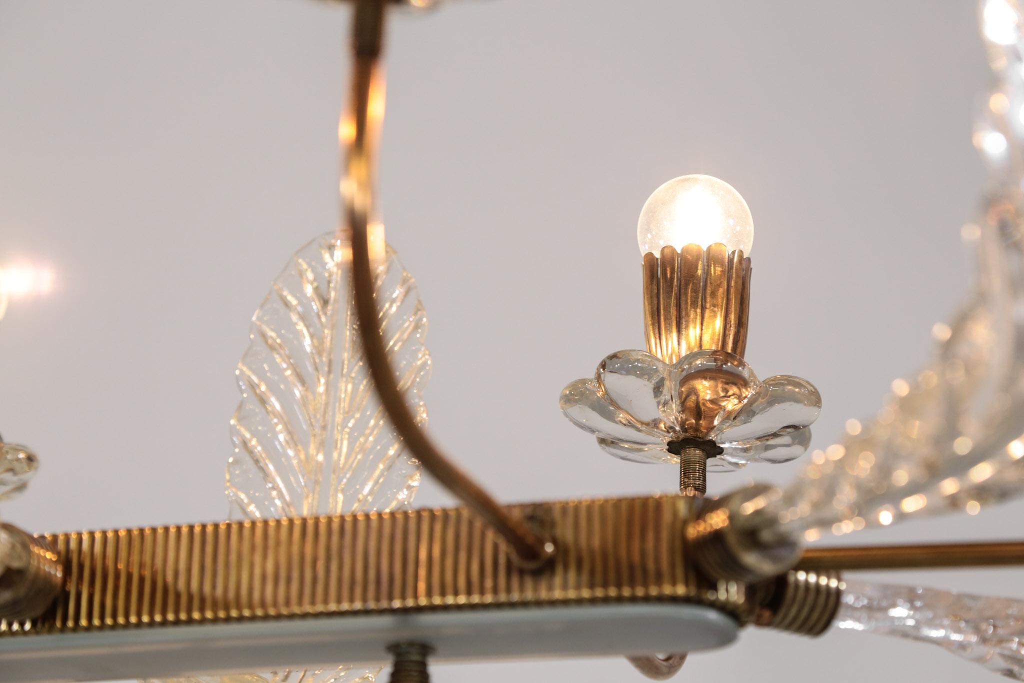 lustre barovier et toso verre de murano design italien. Black Bedroom Furniture Sets. Home Design Ideas