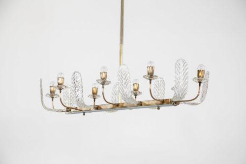 Lustre barovier et toso verre de murano design italien 121