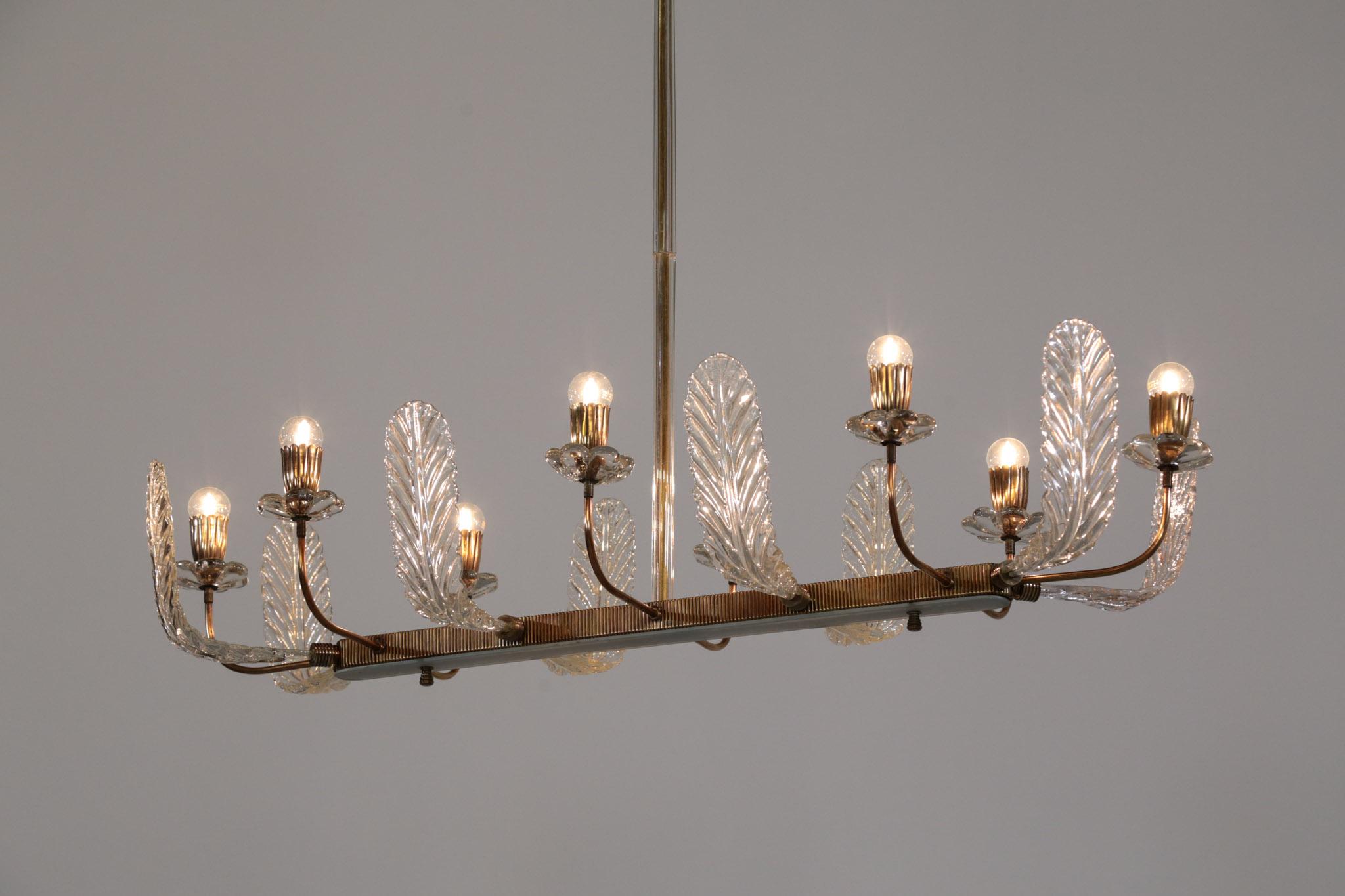 lustre barovier et toso verre de murano design italien danke galerie. Black Bedroom Furniture Sets. Home Design Ideas