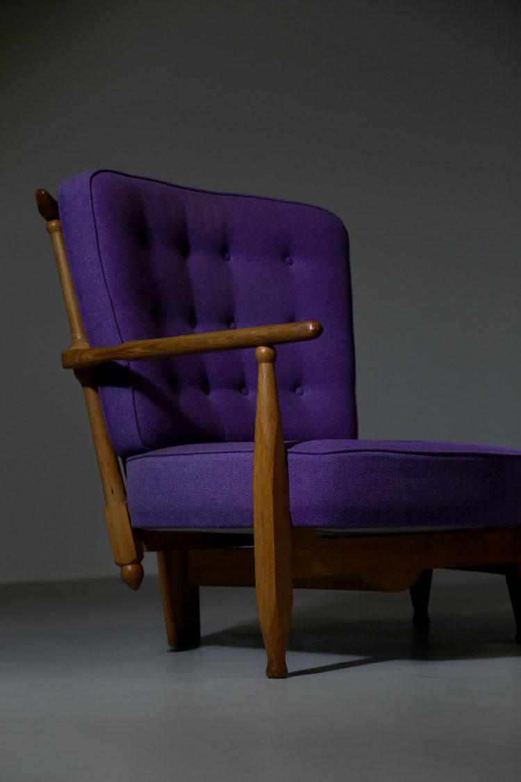Banquette violette Guillerme et chambron 2 places23