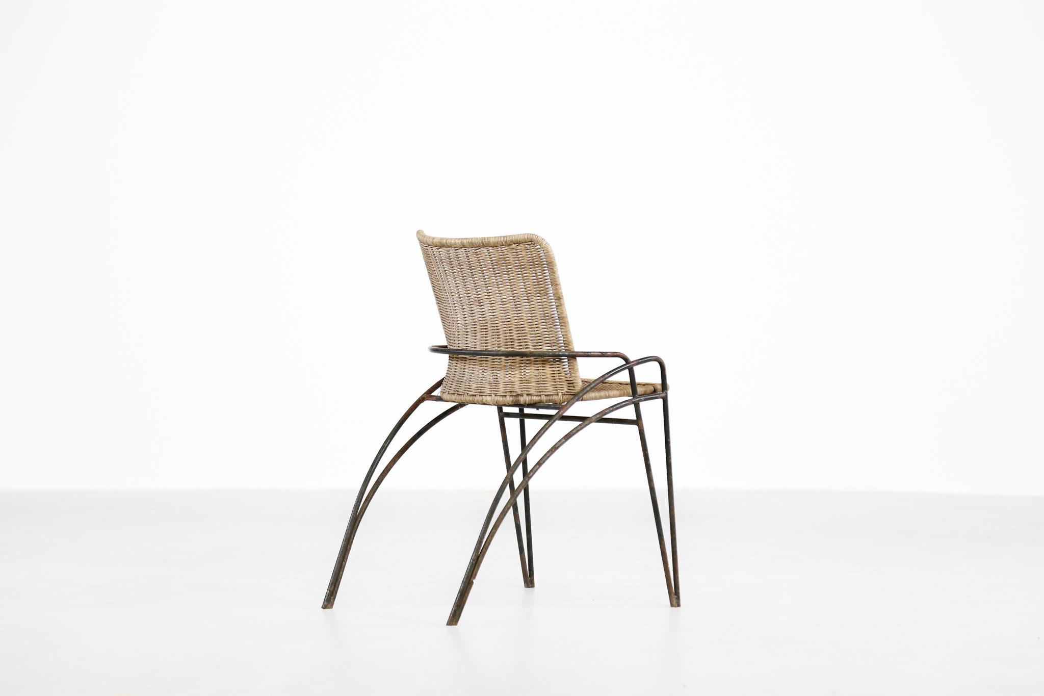 chaise design des ann es 50 attribu e raoul guys danke galerie. Black Bedroom Furniture Sets. Home Design Ideas