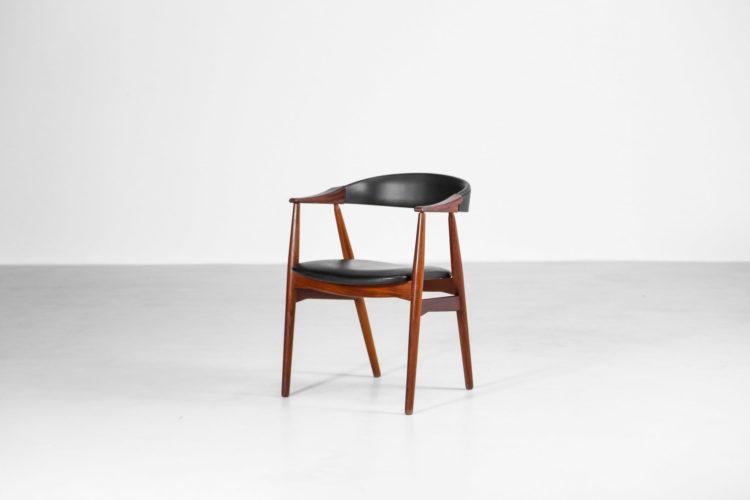 fauteuil de bureau vintage danois scandinave teck 23