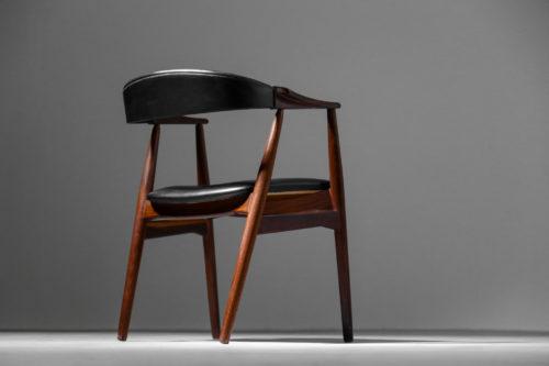 fauteuil de bureau vintage danois scandinave teck 34