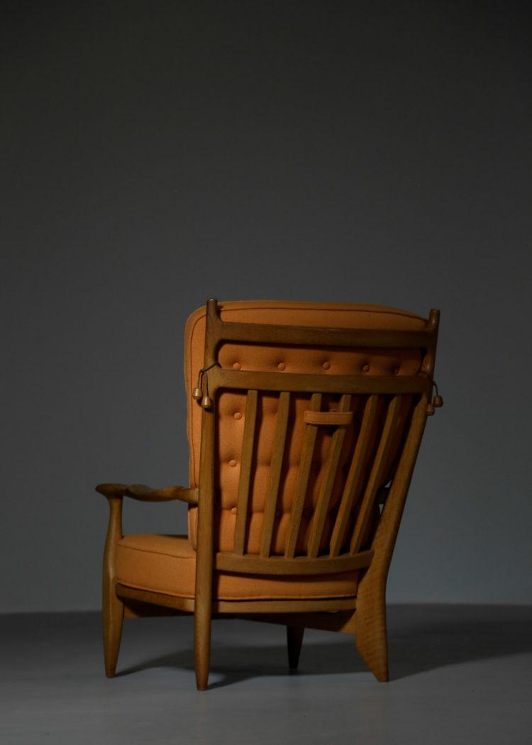 fauteuil guillerme et chambron orange années 60 22