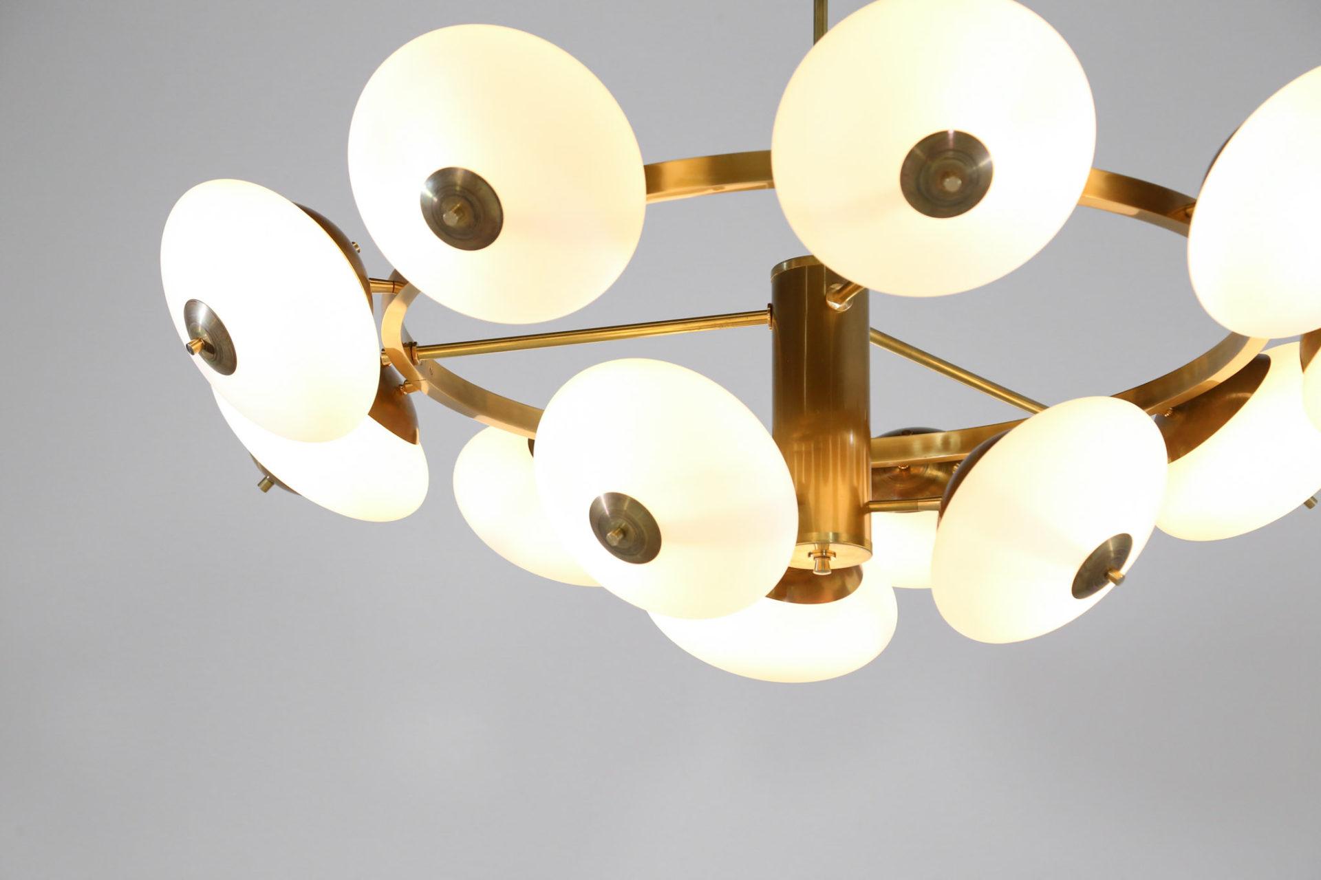 grand lustre stilnovo italien ovoide rond vintage 10