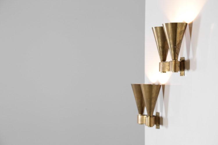 paire d'appliques moderniste en bronze jacques Quinet perzel art deco12
