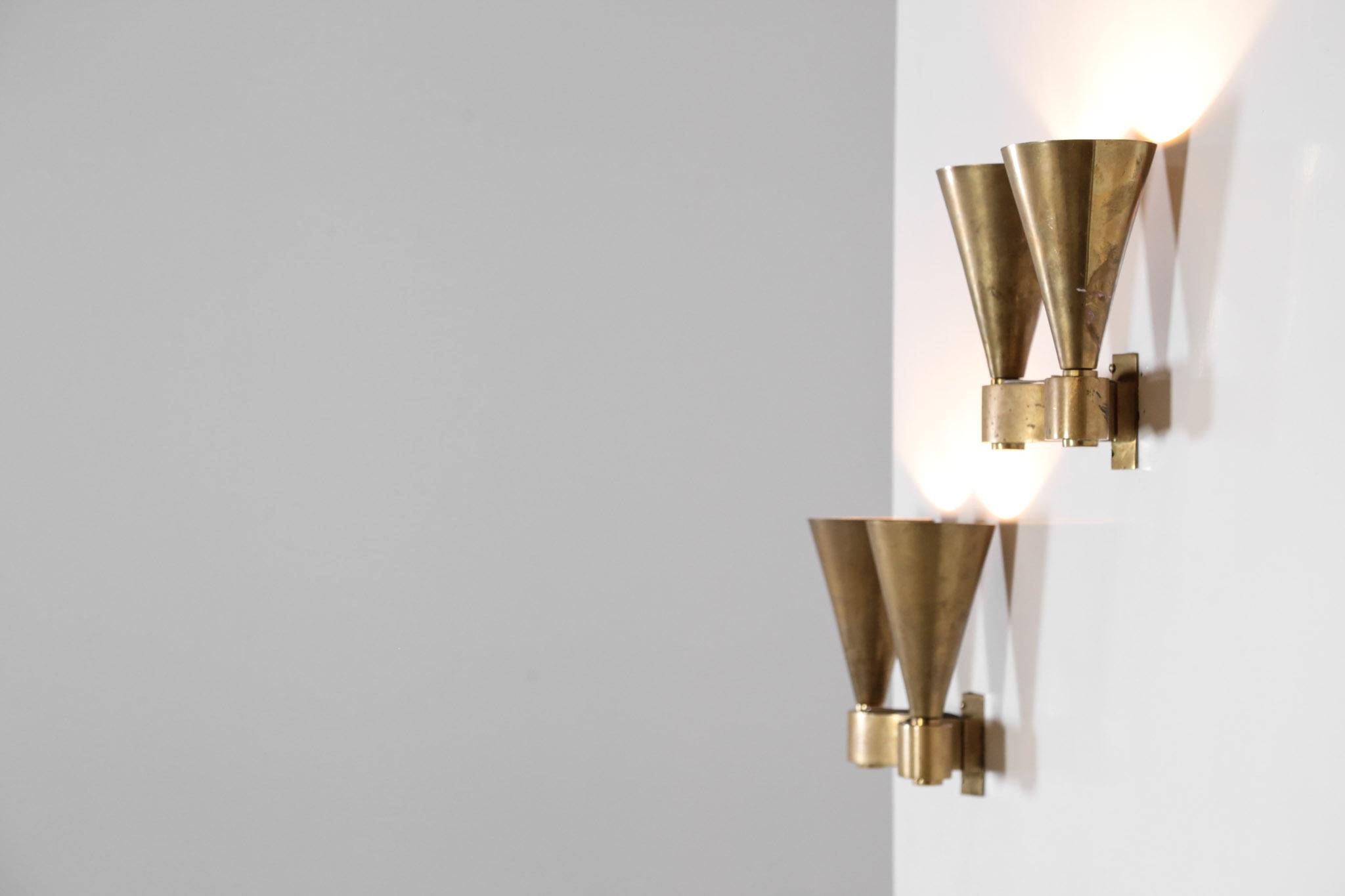 Paire dappliques moderniste en bronze style jacques quinet u2013 danke