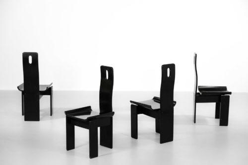 4 chaises vico magistretti gholem vintage design 58