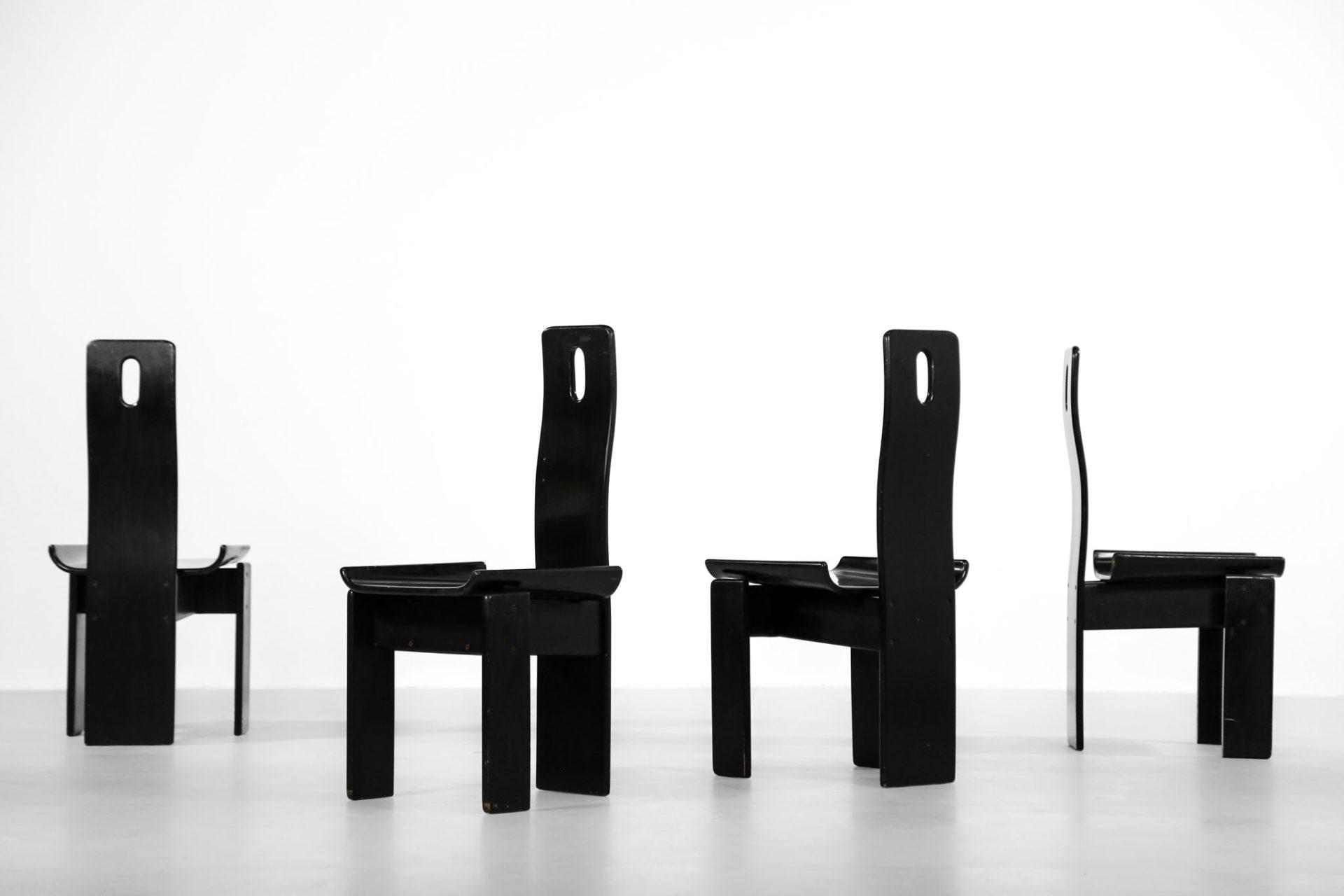4 chaises vico magistretti gholem vintage design 23