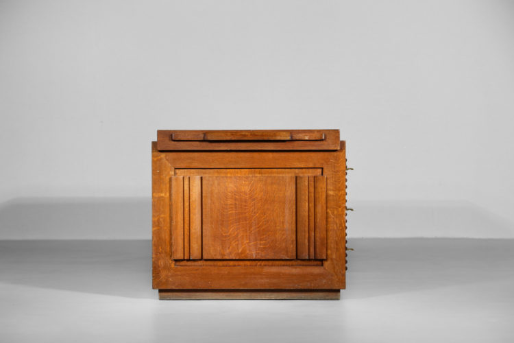 Bureau Moderniste charles Dudouyt chene massif art deco 28