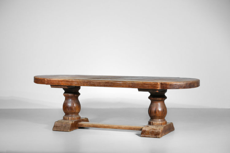 Grande Table monastere ehene massif vintage 36