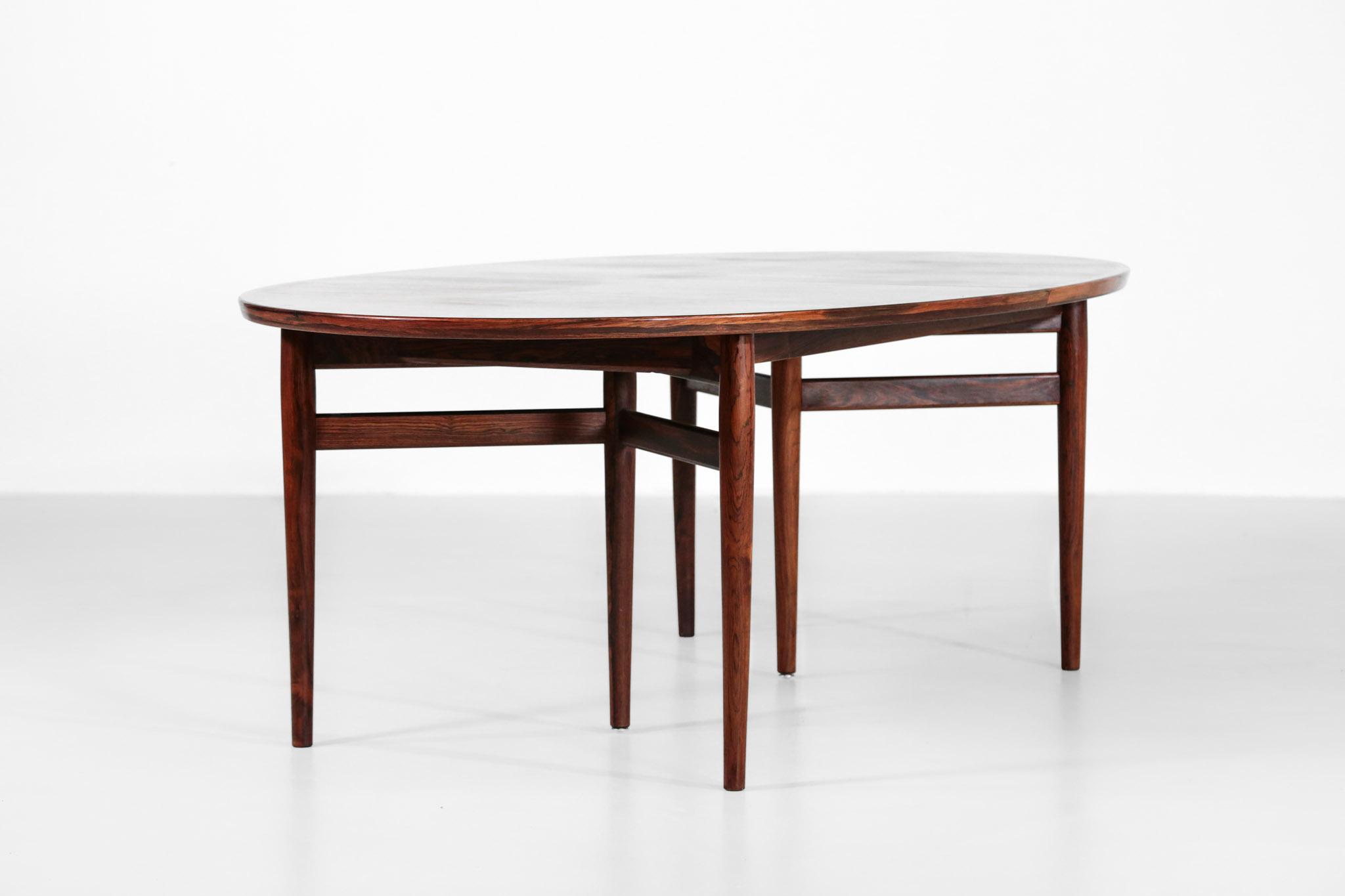 Grande Table A Manger Scandinave Arne Vodder 212 Danois Palissandre22